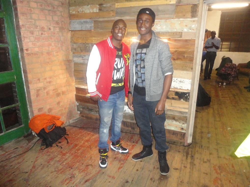Comedian Eddie Kadi and Quincy Washington